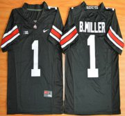 Wholesale Cheap Ohio State Buckeyes #1 Baxton Miller Black 2015 College Football Nike Limited Jersey