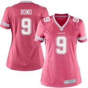 Wholesale Cheap Nike Cowboys #9 Tony Romo Pink Women's Stitched NFL Elite Jersey