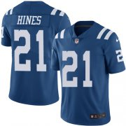 Wholesale Cheap Nike Colts #21 Nyheim Hines Royal Blue Men's Stitched NFL Limited Rush Jersey