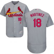 Wholesale Cheap Cardinals #18 Carlos Martinez Grey Flexbase Authentic Collection Stitched MLB Jersey