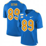 Wholesale Cheap Pittsburgh Panthers 89 Mike Ditka Blue 150th Anniversary Patch Nike College Football Jersey