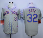 Wholesale Cheap Mets #32 Steven Matz Grey Road Cool Base Stitched MLB Jersey