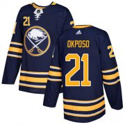 Wholesale Cheap Adidas Sabres #21 Kyle Okposo Navy Blue Home Authentic Youth Stitched NHL Jersey