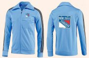 Wholesale Cheap NHL New York Rangers Zip Jackets Light Blue