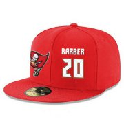 Wholesale Cheap Tampa Bay Buccaneers #20 Ronde Barber Snapback Cap NFL Player Red with White Number Stitched Hat
