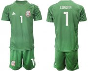 Wholesale Cheap Mexico #1 Corona Green Goalkeeper Soccer Country Jersey
