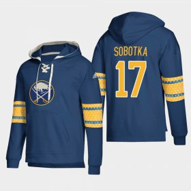 Wholesale Cheap Buffalo Sabres #17 Vladimir Sobotka Navy adidas Lace-Up Pullover Hoodie