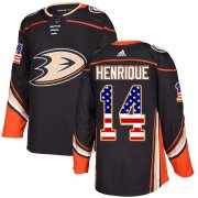 Wholesale Cheap Adidas Ducks #14 Adam Henrique Black Home Authentic USA Flag Stitched NHL Jersey