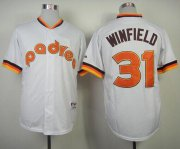 Wholesale Cheap Padres #31 Dave Winfield White 1984 Turn Back The Clock Stitched MLB Jersey