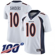 Wholesale Cheap Nike Broncos #10 Emmanuel Sanders White Men's Stitched NFL 100th Season Vapor Limited Jersey