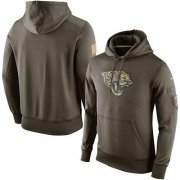 Wholesale Cheap Men's Jacksonville Jaguars Nike Olive Salute To Service KO Performance Hoodie