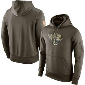 Wholesale Cheap Men\'s Jacksonville Jaguars Nike Olive Salute To Service KO Performance Hoodie