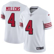 Wholesale Cheap Nike 49ers #4 Nick Mullens White Rush Men's Stitched NFL Vapor Untouchable Limited Jersey
