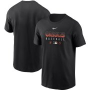 Wholesale Cheap Men's Baltimore Orioles Nike Black Authentic Collection Team Performance T-Shirt