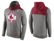 Wholesale Cheap Men's Boston Red Sox Nike Gray Cooperstown Collection Hybrid Pullover Hoodie_1