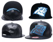 Wholesale Cheap NFL Carolina Panthers Fresh Logo Black Reflective Adjustable Hat G105