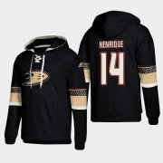 Wholesale Cheap Anaheim Ducks #14 Adam Henrique Black adidas Lace-Up Pullover Hoodie