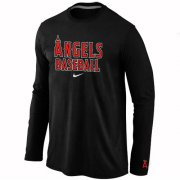 Wholesale Cheap Los Angeles Angels Long Sleeve MLB T-Shirt Black