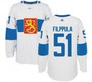 Wholesale Cheap Team Finland #51 Valtteri Filppula White 2016 World Cup Stitched NHL Jersey