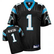 Wholesale Cheap Panthers #1 Cam Newton Black Stitched NFL Jersey