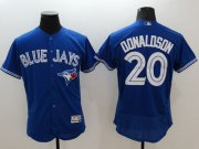 Wholesale Cheap Blue Jays #20 Josh Donaldson Blue Flexbase Authentic Collection Stitched MLB Jersey