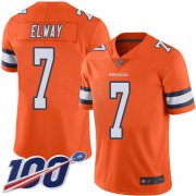Wholesale Cheap Nike Broncos #7 John Elway Orange Men's Stitched NFL Limited Rush 100th Season Jersey