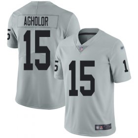 Wholesale Cheap Nike Raiders #15 Nelson Agholor Silver Men\'s Stitched NFL Limited Inverted Legend Jersey