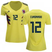 Wholesale Cheap Women's Colombia #12 Cuadrado Home Soccer Country Jersey
