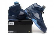 Wholesale Cheap Air Jordan 5 Retro Shoes Hornets Blue/gray
