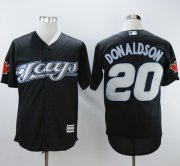Wholesale Cheap Blue Jays #20 Josh Donaldson Black 2008 Turn Back The Clock Stitched MLB Jersey