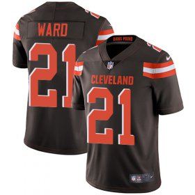 Wholesale Cheap Nike Browns #21 Denzel Ward Brown Team Color Youth Stitched NFL Vapor Untouchable Limited Jersey