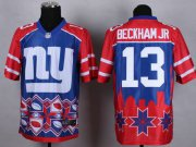 Wholesale Cheap Nike Giants #13 Odell Beckham Jr Blue Men's Stitched NFL Elite Noble Fashion Jersey