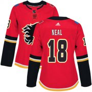 Wholesale Cheap Adidas Flames #18 James Neal Red Home Authentic Women's Stitched NHL Jersey