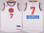 Wholesale Cheap New York Knicks #7 Carmelo Anthony Revolution 30 Swingman 2014 Christmas Day White Jersey