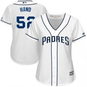 Wholesale Cheap Padres #52 Brad Hand White Home Women's Stitched MLB Jersey