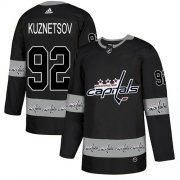 Wholesale Cheap Adidas Capitals #92 Evgeny Kuznetsov Black Authentic Team Logo Fashion Stitched NHL Jersey