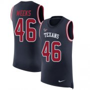 Wholesale Cheap Nike Texans #46 Jon Weeks Navy Blue Team Color Men's Stitched NFL Limited Rush Tank Top Jersey