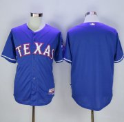 Wholesale Rangers Blank Blue 40th Anniversary Patch Stitched Baseball Jersey
