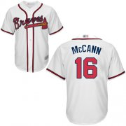 Wholesale Cheap Braves #16 Brian McCann White Cool Base Stitched Youth MLB Jersey