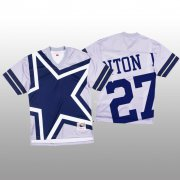 Wholesale Cheap NFL Dallas Cowboys #27 Ha Ha Clinton-Dix White Men's Mitchell & Nell Big Face Fashion Limited NFL Jersey