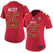 Wholesale Cheap Nike Bills #25 LeSean McCoy Red Women's Stitched NFL Limited AFC 2017 Pro Bowl Jersey