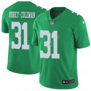 Wholesale Cheap Nike Eagles #31 Nickell Robey-Coleman Green Men's Stitched NFL Limited Rush Jersey