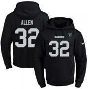 Wholesale Cheap Nike Raiders #32 Marcus Allen Black Name & Number Pullover NFL Hoodie
