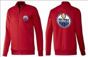 Wholesale Cheap NHL Edmonton Oilers Zip Jackets Red