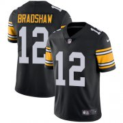Wholesale Cheap Nike Steelers #12 Terry Bradshaw Black Alternate Men's Stitched NFL Vapor Untouchable Limited Jersey