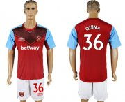 Wholesale Cheap West Ham United #36 Quina Home Soccer Club Jersey