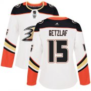 Wholesale Cheap Adidas Ducks #15 Ryan Getzlaf White Road Authentic Women's Stitched NHL Jersey