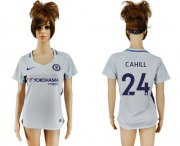 Wholesale Cheap Women's Chelsea #24 Cahill Away Soccer Club Jersey