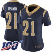 Wholesale Cheap Nike Rams #21 Donte Deayon Navy Blue Team Color Women's Stitched NFL 100th Season Vapor Untouchable Limited Jersey