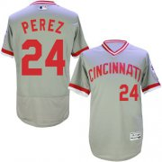 Wholesale Cheap Reds #24 Tony Perez Grey Flexbase Authentic Collection Cooperstown Stitched MLB Jersey
